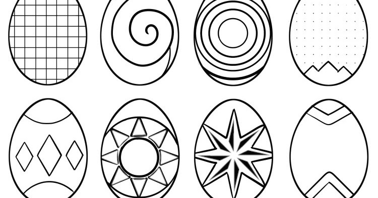 abstract easter egg coloring pages - photo#7