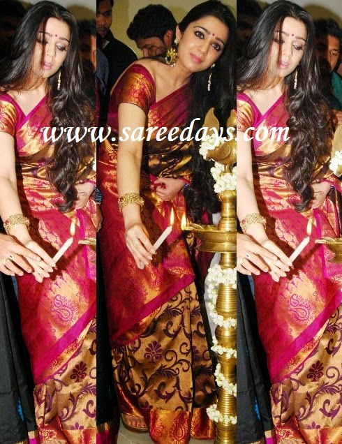 Latest saree designs charmee in gold colour kanchipuram pattu saree charmee in gold colour kanchipuram pattu saree altavistaventures Image collections