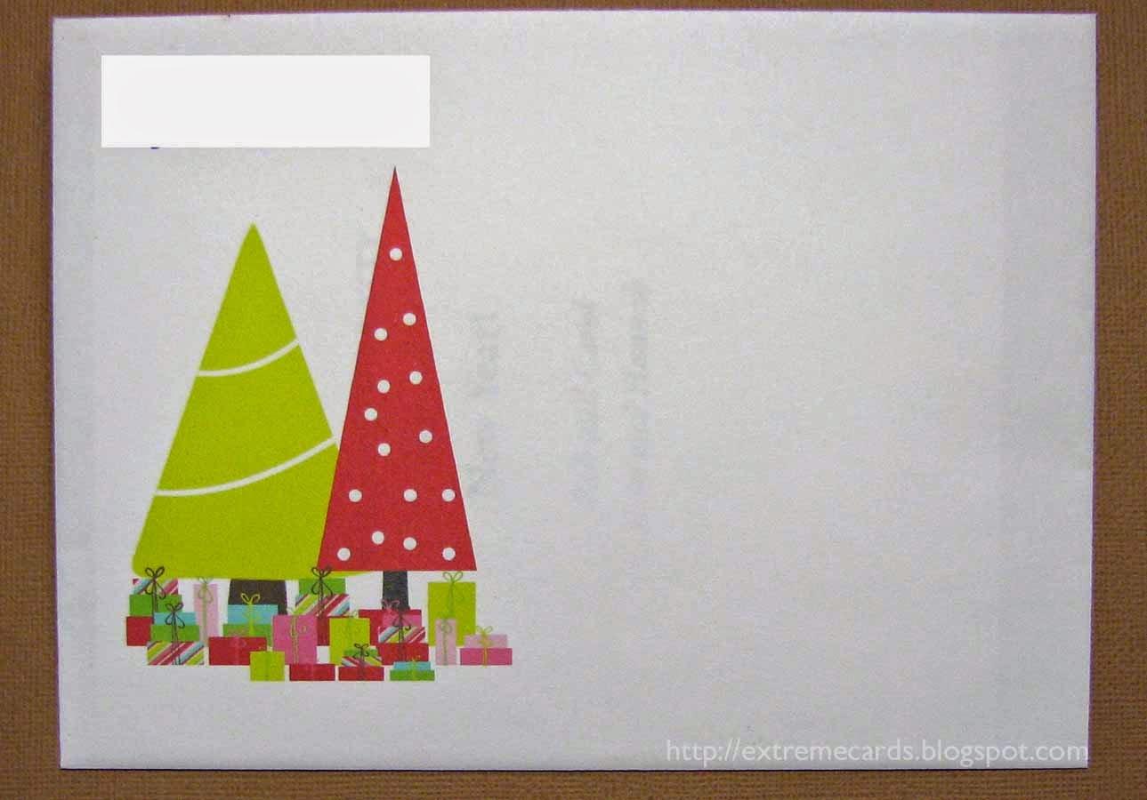 extreme Christmas card envelope