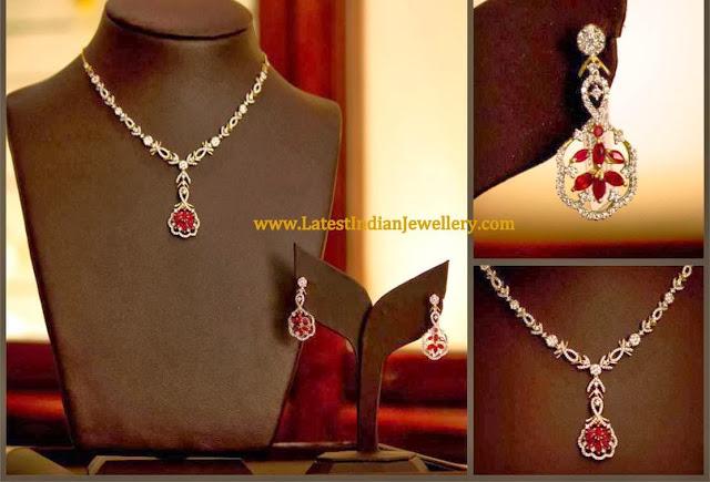 Party Wear Diamond Necklace