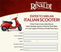 Francesco Rinaldi Sweepstakes