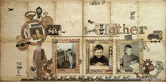 Vintage Textured Layout - Layers of ink