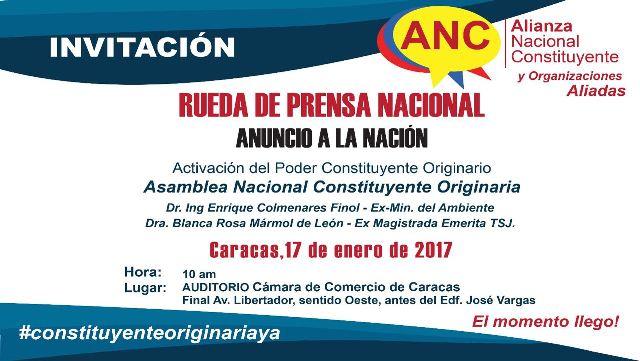 El momento llegó, #ConstituyenteOriinariaYa