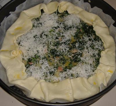 Pasta brisé con spinaci