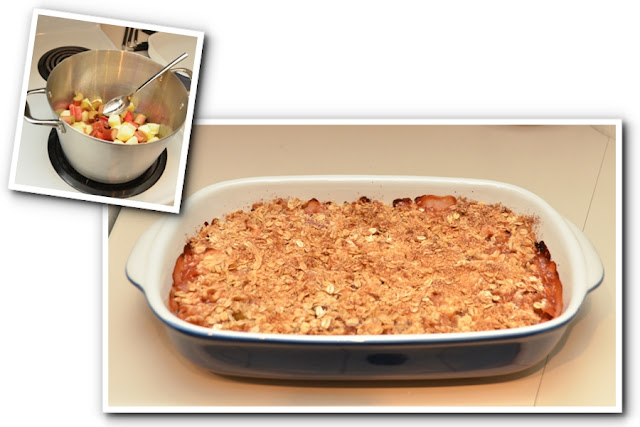 Victoria Tourist Baked Rhubarb Crumble
