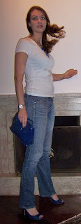 Blue shoes and blue purse