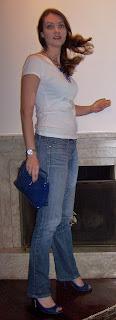 Blue shoes and blue purse
