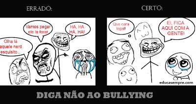 Tirinhas Meme contra o bullying