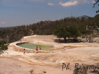 paysage mexique Oaxaca Hierve el Agua casacade pétrifiée