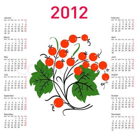 zonal meet 2012 calendar