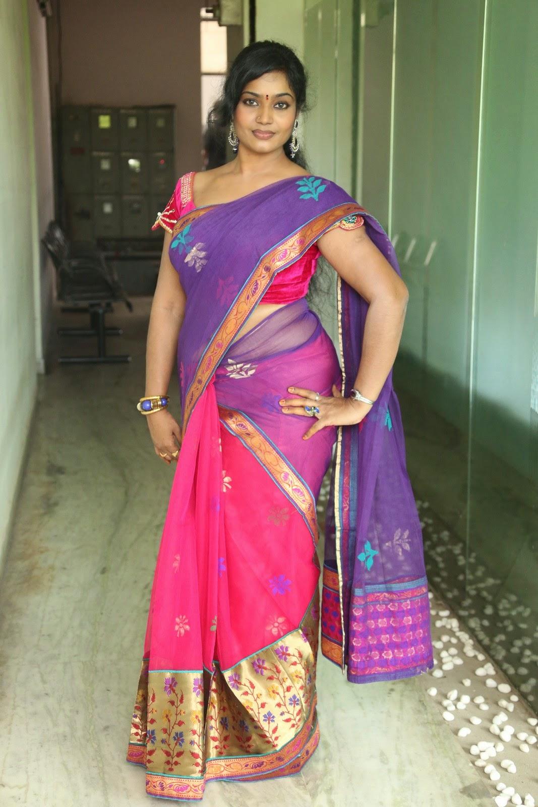 Actress Jayavani Hot photos in saree photo 15   telugu ...
