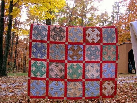 vintage T-square quilt