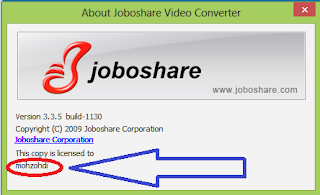 Free downloasd preactivated joboshare video converter 3.3.5