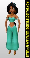 Princess Jasmine Papercraft-Disney