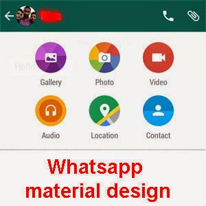 Latest official Whatsapp with material design