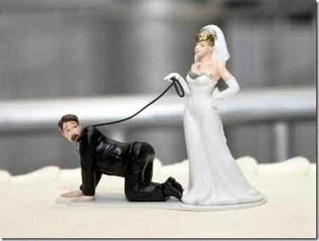 Gnvision - Bolos de casamento engraçados e criativos - Noivo domando, cachorro
