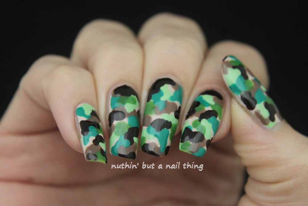 Nuthin but a nail thing camouflage nail art camouflage nail art camouflage nail art prinsesfo Gallery