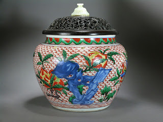 Chinese Wucai transitional period vase