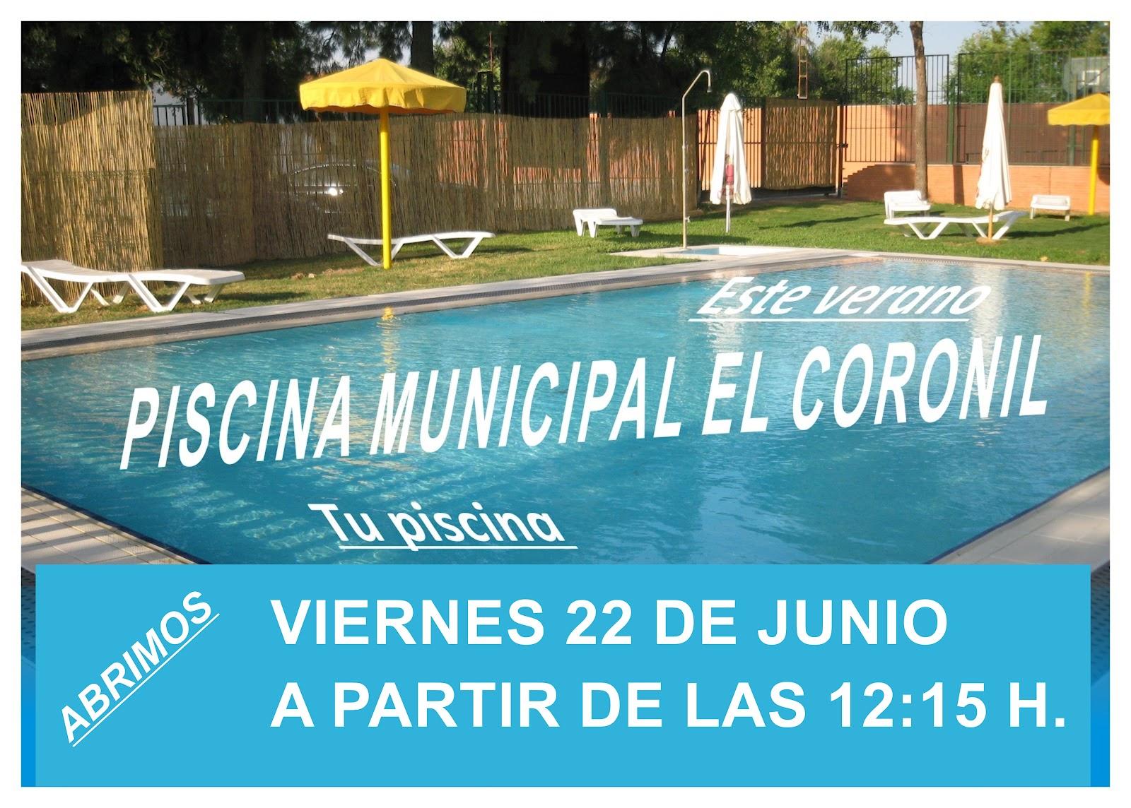 Deportes el coronil abrimos la piscina municipal el coronil for Piscina municipal el vendrell