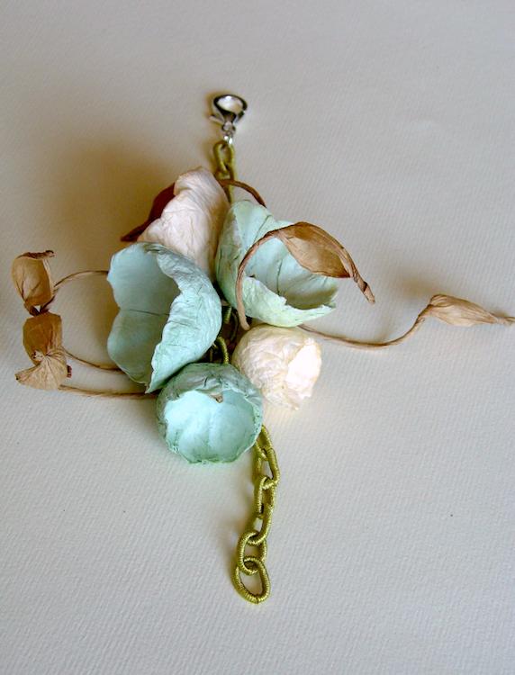 Eco gioielli : bracciale per matrimonio color  verde