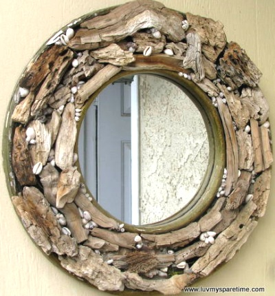 round driftwood mirror - Driftwood Picture Frame