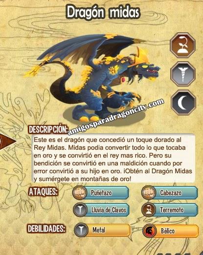 imagen de las caracteristicas del dragon midas