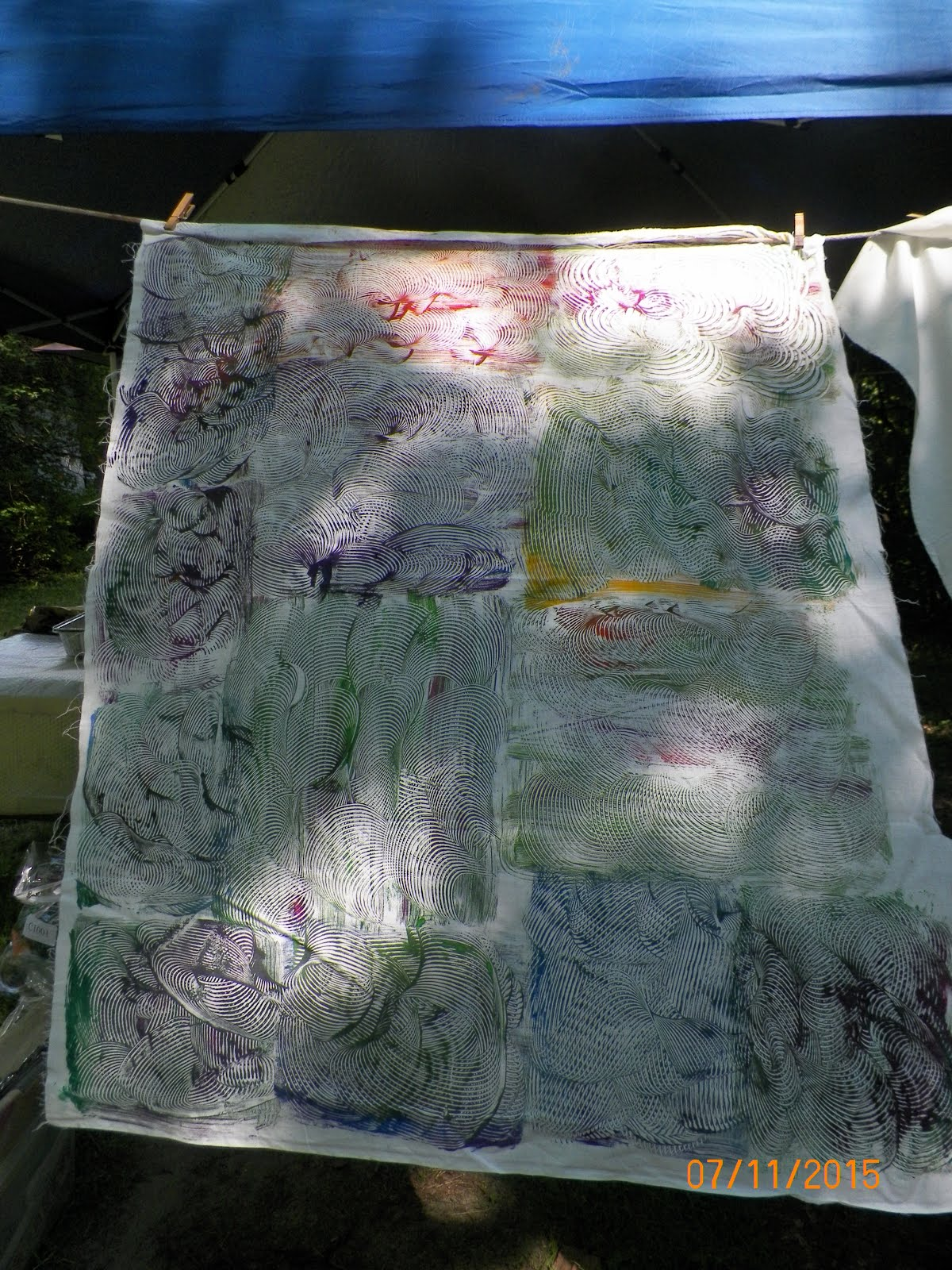 MONO PRINTING USING FABRIC PAINTS