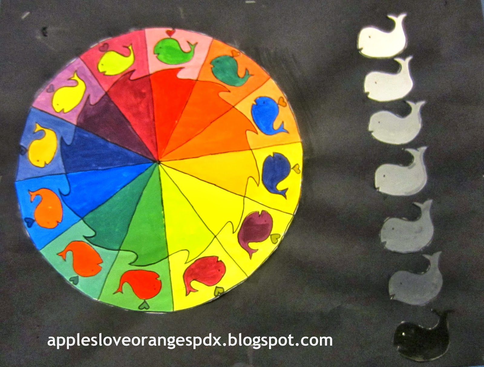Mrs Art Teacher Complex Color Wheels And Guitars