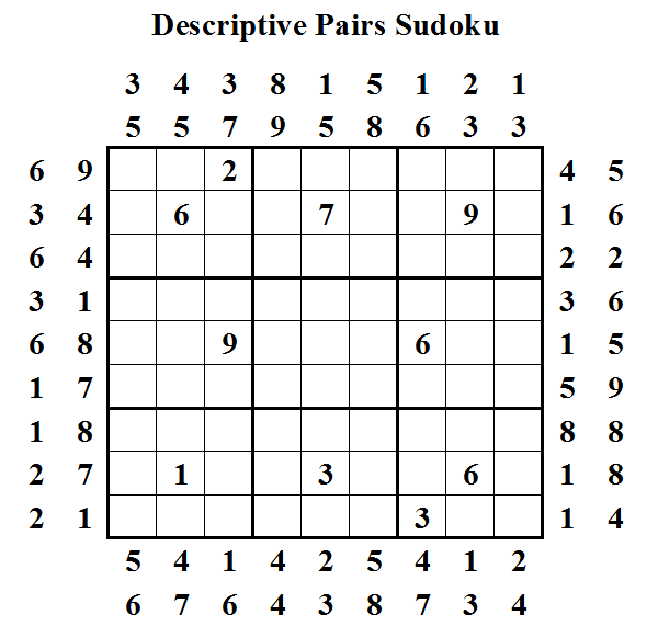 Descriptive Pairs Sudoku (Daily Sudoku League #8)