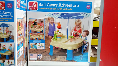Step2 Sail Away Adventure Sand and Water Table with Umbrella for your kids