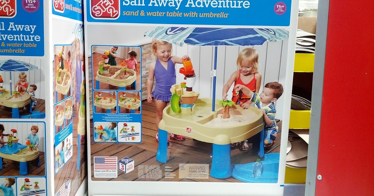 Step2 sail away adventure sand and water table with umbrella costco weekender - Costco toys for kids ...