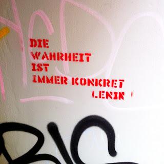 Die Wahrheit ist immer konkret Lenin! Streetart in Hamburg