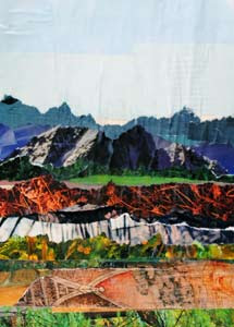 Mountain Land by collage artist Megan Coyle