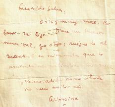 Alfonsina Storni, una de sus últimas cartas