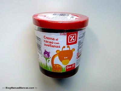 Crema al cacao con avellanas (tipo Nocilla) DIA.