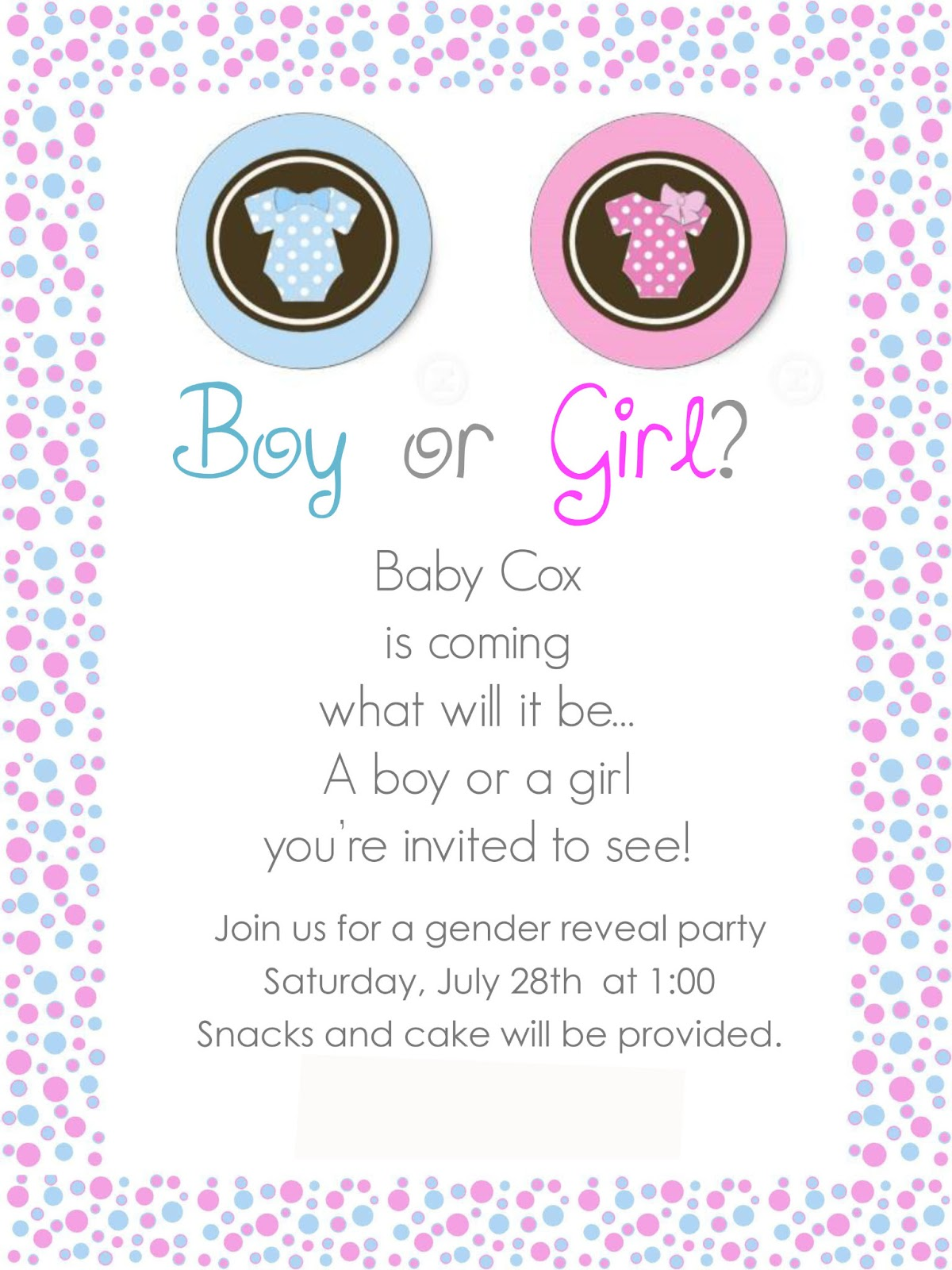the life of a running momma gender reveal party