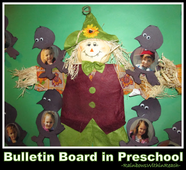 photo of: Scarecrow Bulletin Board in Preschool via RainbowsWithinReach