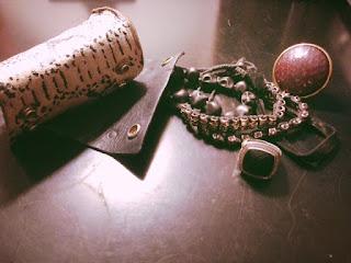 David Yurman black onyx, David yurman bracelets, stacking bracelets, leather cuff, snakeskin bracelet, snakeskin cuff, skull bracelets, edgy accessories, what to wear in nyc