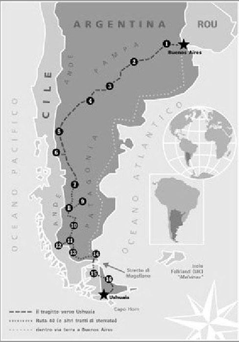 """L'itinerario di LORENZO FRANCHINI in """"Vespa P125X"""" (2005)."""