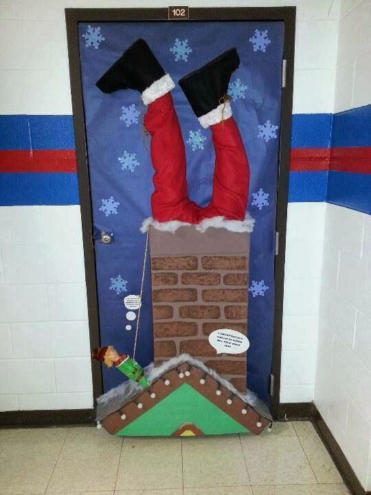 El arte de educar ideas para decorar la puerta del aula - Adorno puerta navidad ...