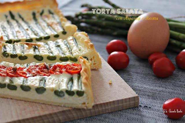 Q.b.- Quanto Basta: Torta salata con asparagi e ricotta