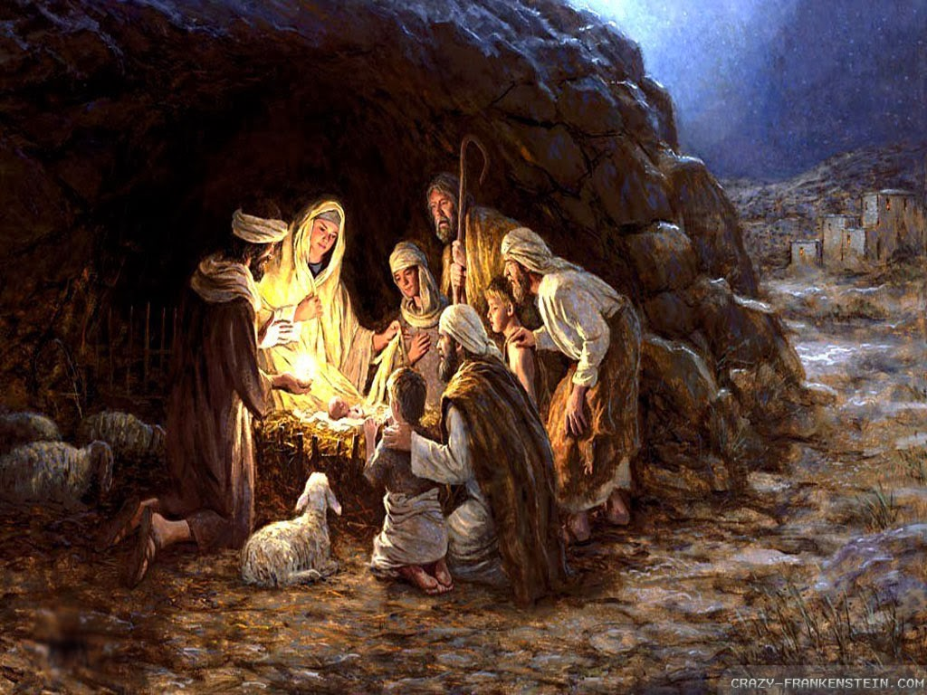 jesus and the nativity scene Nativity a the birth of jesus b a representation  altogether original and very realistic scenes from actual english life were added,.