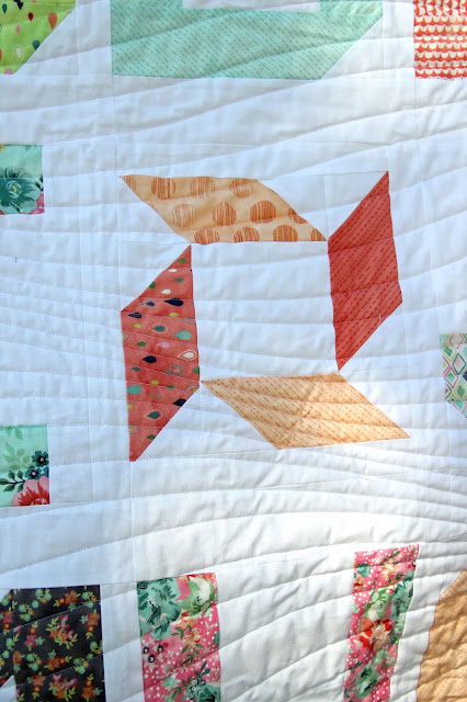 Girls in the Garden - Spell it with Fabric quilt small block