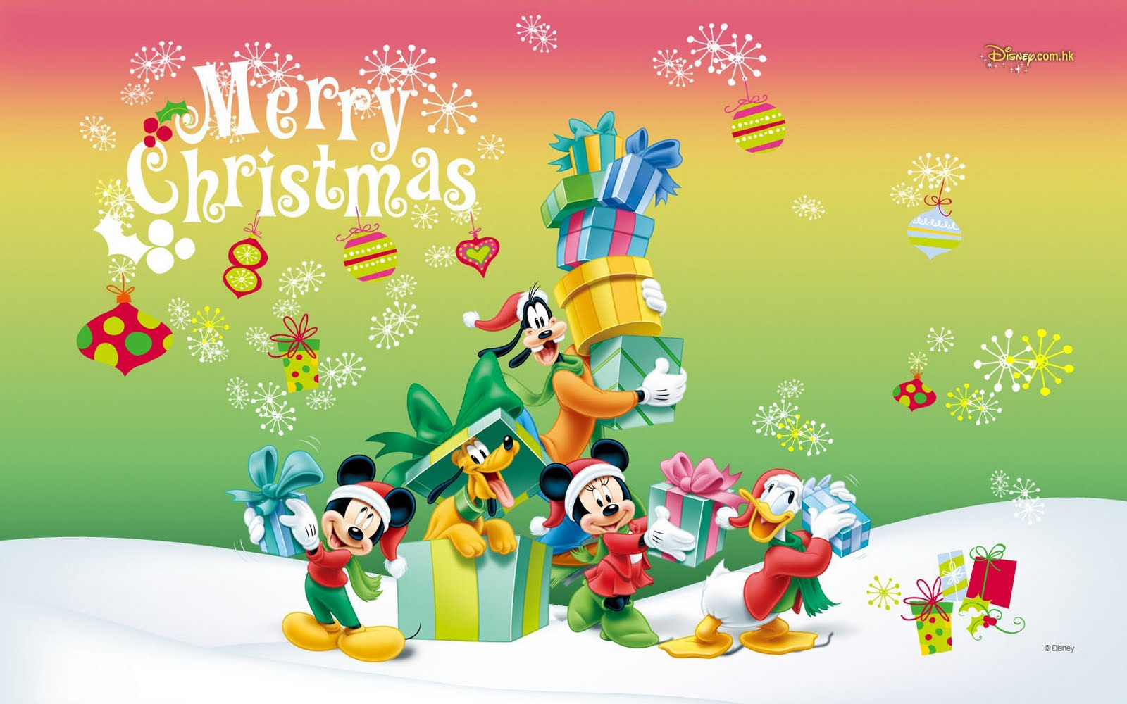 Merry Christmas Mickey Mouse