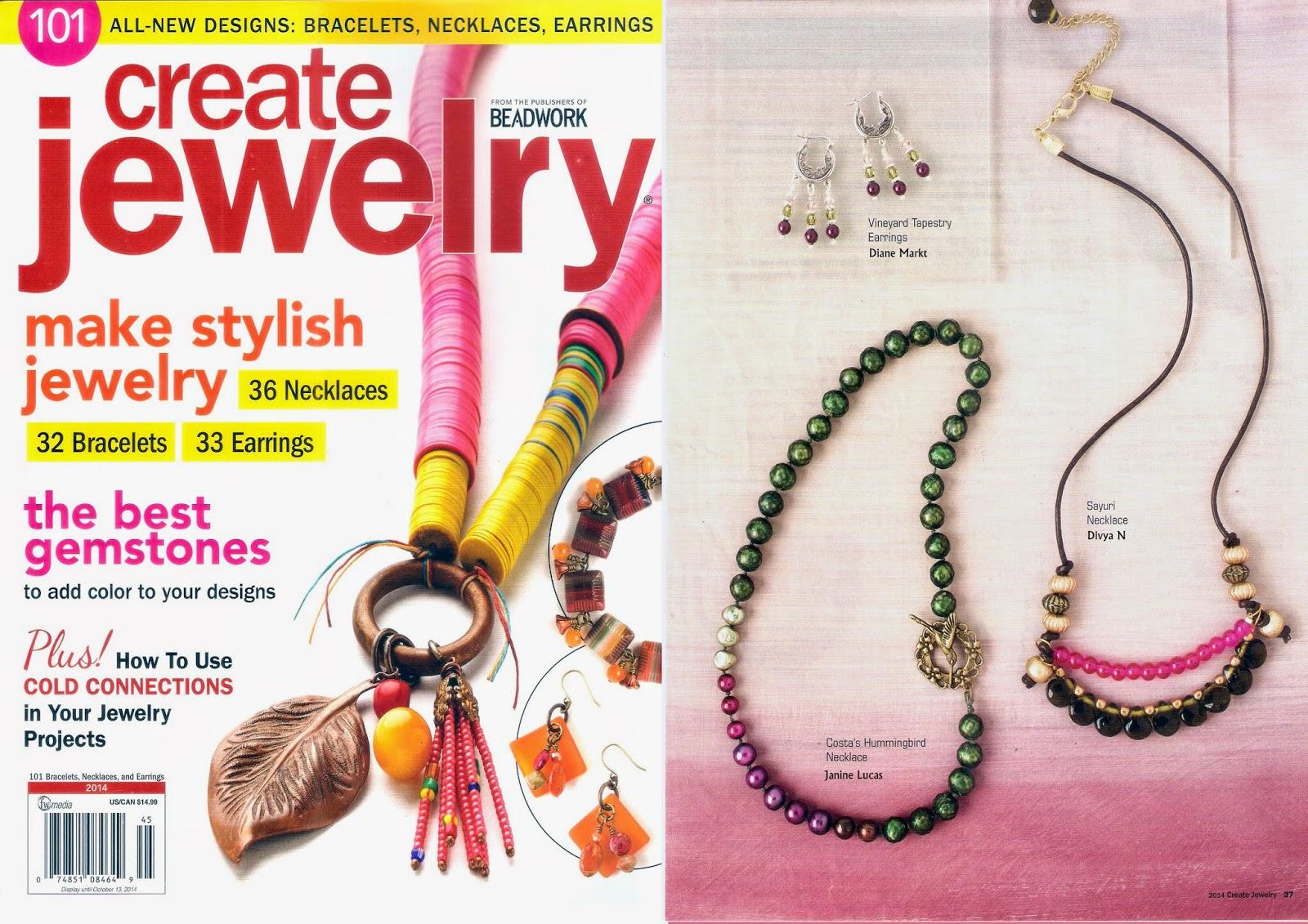 Sayuri Necklace, feathers in flight, create jewelry magazine