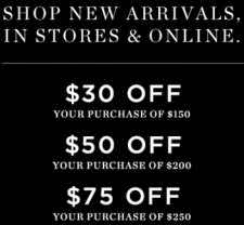 SHOPNOW for up to $75 off $250