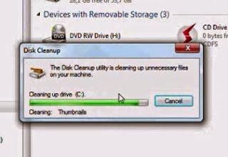 proses menghapus file sampah
