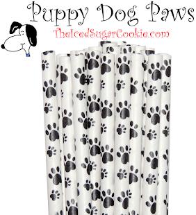 Puppy Dog Paper Straws