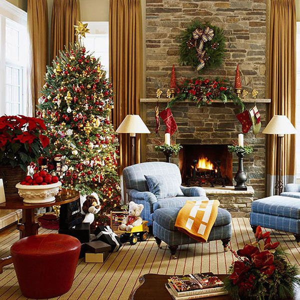 Beautiful christmas living room decorations unique wallpaper for Living room xmas decorations