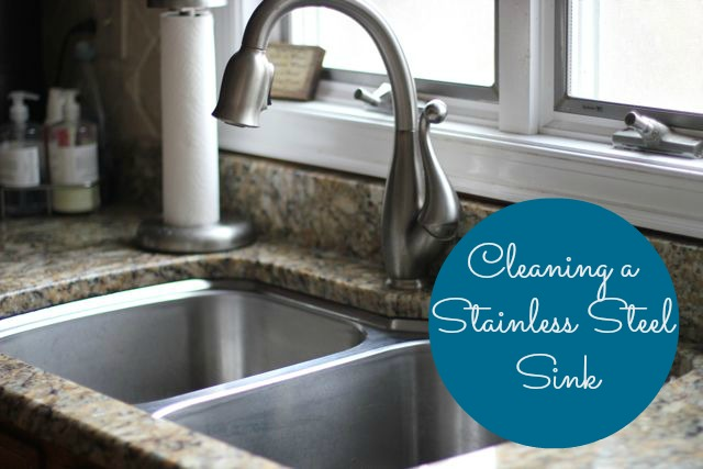 our life in a click pinned cleaning a stainless steel sink. Black Bedroom Furniture Sets. Home Design Ideas